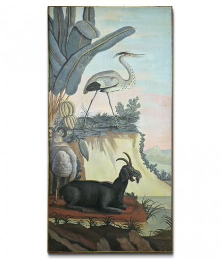 Picture of ANIMAL PAINTING WITH EGRET ON CANVAS