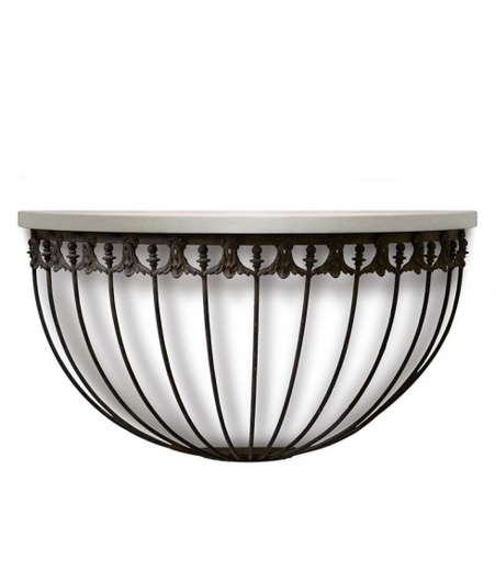 Picture of HALF ROUND IRON CONSOLE