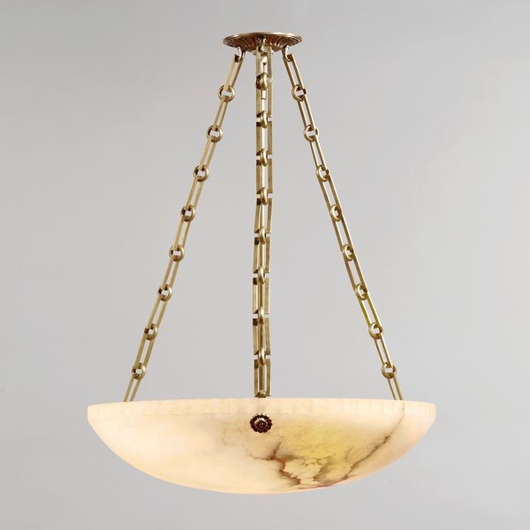 Picture of BOLTON ALABASTER BOWL CEILING LIGHT