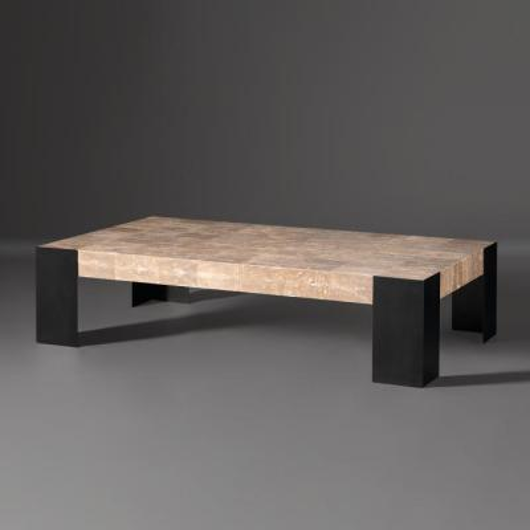 Picture of ANGLE BRONZE COFFEE TABLE